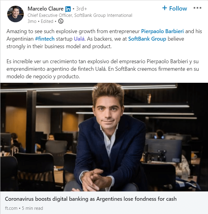 linkedin article uala