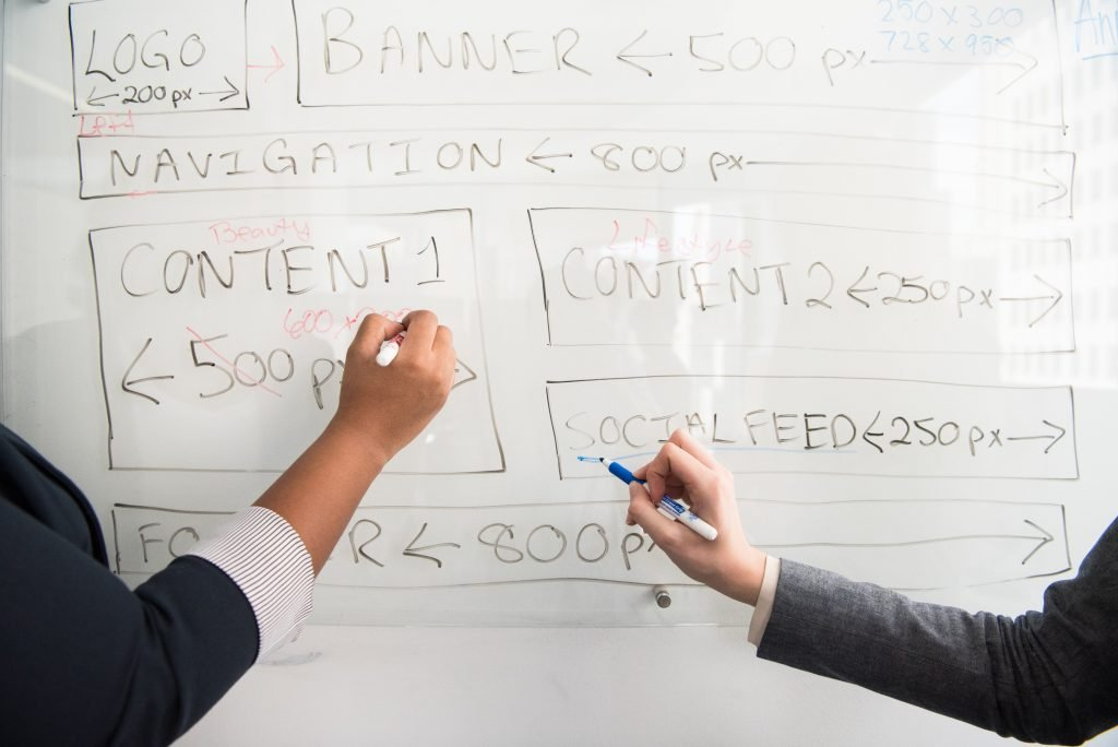 hands on whiteboard