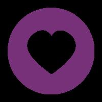 Corazón morado centro